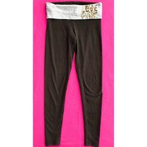 PINK VS Sequined Foldover Skinny Leggings